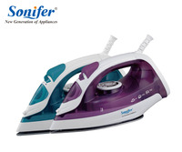 1600W Mini Portable Electric Steam Iron For Clothes Three Gears Ceramic Solepalte Sonifer