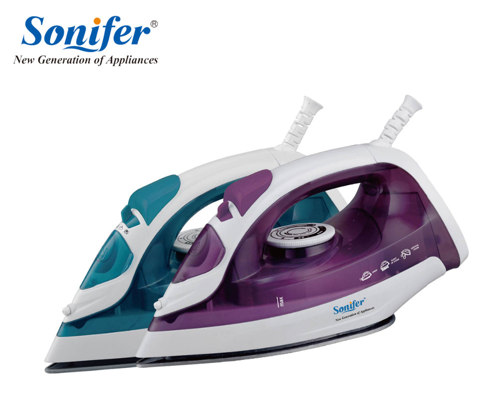 1600W Mini Portable Electric Steam Iron For Clothes Three Gears Ceramic solepalte Sonifer 220v 600w 1 2l portable multi cooker mini electric hot pot stainless steel inner electric cooker with steam lattice for students