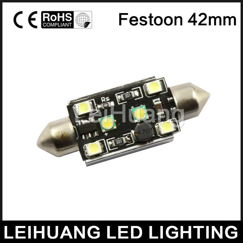 Car Dome Festoon LED Lights Canbus White42mm No Error Cree Chip Reading Licence Plate Bulb  High Power 10W Led c5w