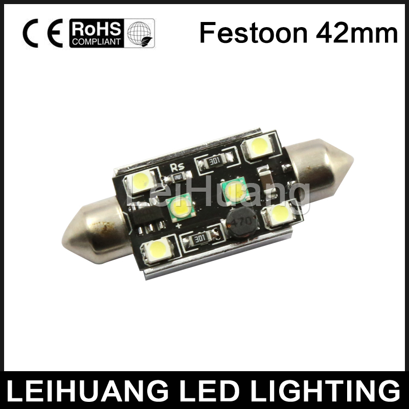 2Pcs 31mm 4014 12SMD C5W LED Light Canbus Festoon Dome Car License Plate Lamp RF