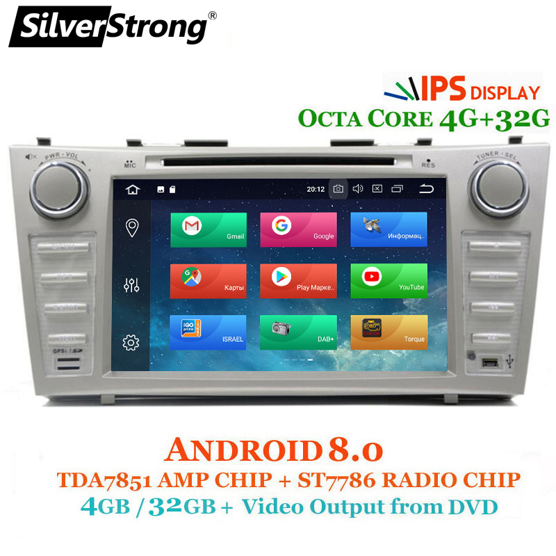 SilverStrong IPS Android8 0 OctaCore Car DVD DSP tape recorder For TOYOTA CAMRY AURION Car 2din