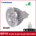 1x High Power Dimmable MR16 3/4/5 Leds LED Light GU 5.3 LED bulb LED lamp 12V  LED COB Spot down light lamp bulb