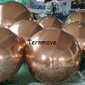 Надувной шар для украшения зеркала из ПВХ розового золота  Рождественский шар  отражающий свет  Свадебный зеркальный шар для сценической вы...
