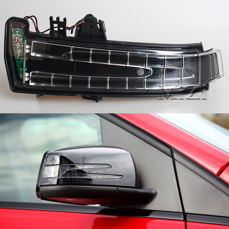 1/2Pcs Turn Signal Light Rear view Mirror Side Mirror Led Lamp For Mercedes-Benz W221 W212 W204 S300 S500 S350 S600 S400 C180 left and right car rearview mirror light for mercedes benz w164 gl350 gl450 gl550 ml300 ml350 turn signal side mirror led lamp