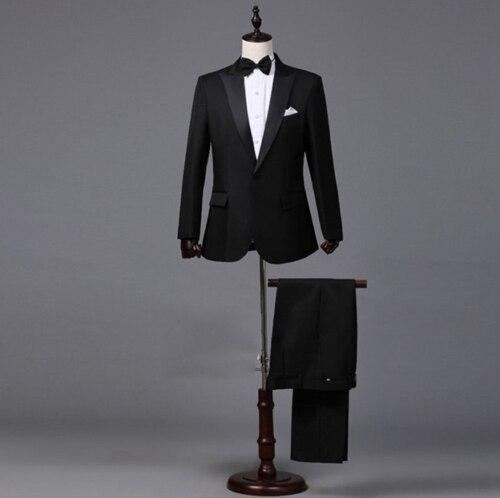 2 pièces hommes costume formel marié mariage costume Slim Fit fête smoking veste manteau + pantalon ensemble hommes costumes