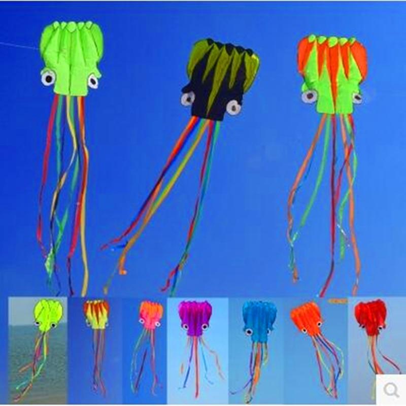 送料無料大タコ凧ナイロンリップストップ屋外のおもちゃ大きな凧フライング吹流し凧用子供アホウドリ凧工場