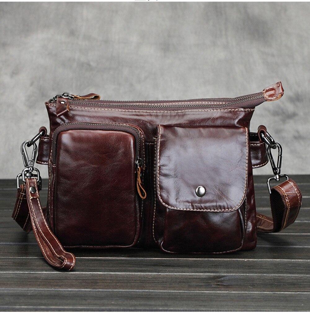 echtes leder kleine messenger bags für männer crossbody - Handtaschen