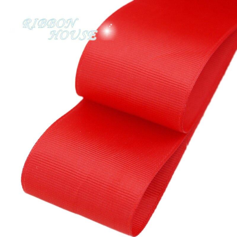 (5 м/лот) 2 «(50 мм) Красный корсажная лента подарочная упаковка оптом Рождество украшение ленты