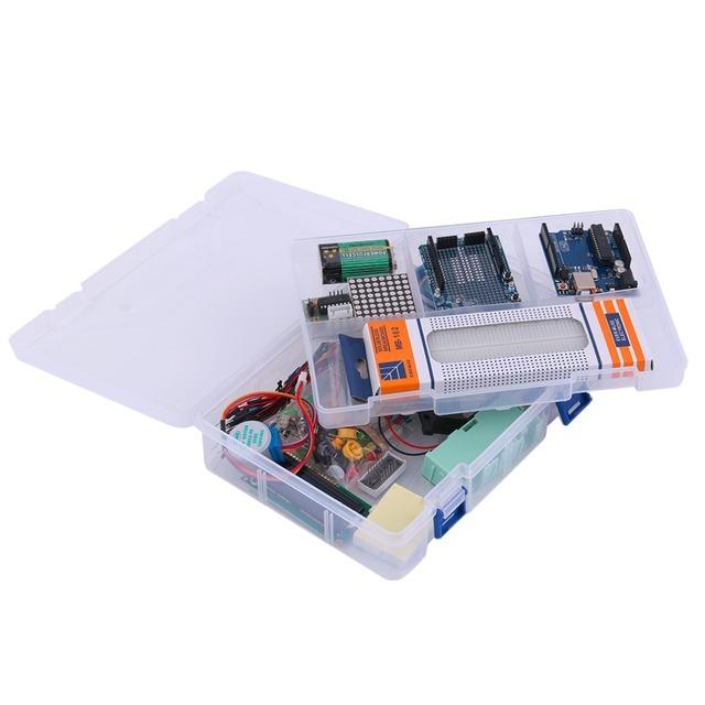 Universal LCD Servo Motor Relé RTC LED Para Melhor Conjunto Starter Kit Para Arduino UNO R3 1602 Entusiastas Iniciantes