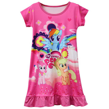 Summer Unicorn Girls Pajamas Dress