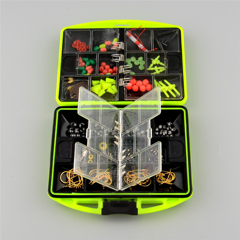 Practical 24 kinds of Assorted Tackle Saltwater Utility Box Lure Baits Jig Hanging Clamp Hooks Fishing Accessories Outdoor