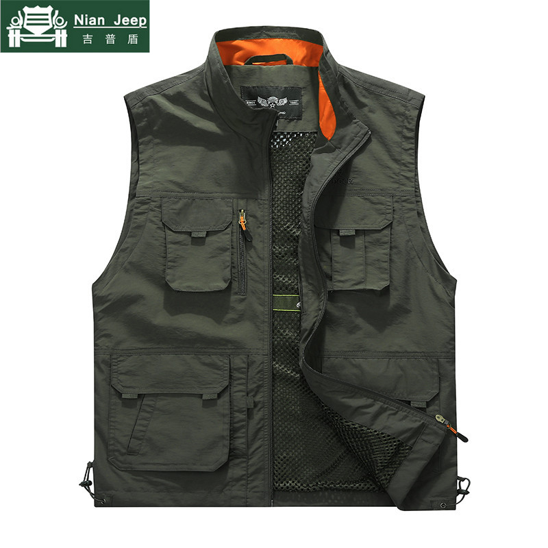 2018 Summer Autumn Vest Men Casual Multi Pocket Military Tactical Vest Casaco masculino Cotton Waistcoat Coats Plus Size L-6XL