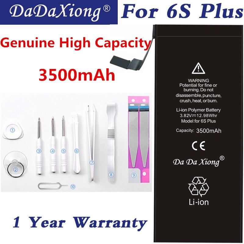 Original Da Da Xiong Batterie Pour iPhone 6 S Plus 6 SPlus Li-ion piles de rechange 3500 mAh Haute Capacité Paquet de Détail