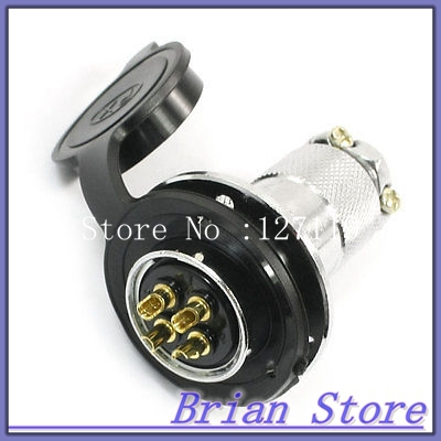 Waterproof Aviation Plug Pannel Connector Adapter 4 Pin P25-4 Core electric cable aviation 4p 25mm pannel connector plug adapter ac 250v 7a