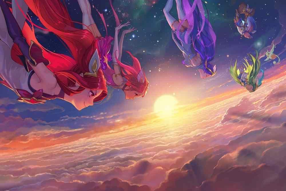 League Of Legends Gadis Janna Lux Lulu Jinx PMD876 Kain Kustom Poster Dinding Dekorasi Kamar Dekorasi Rumah Dekorasi (Bingkai tersedia)