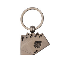 Metal Creative Playing Card Keychain Gifts Activities Gift Car Bag