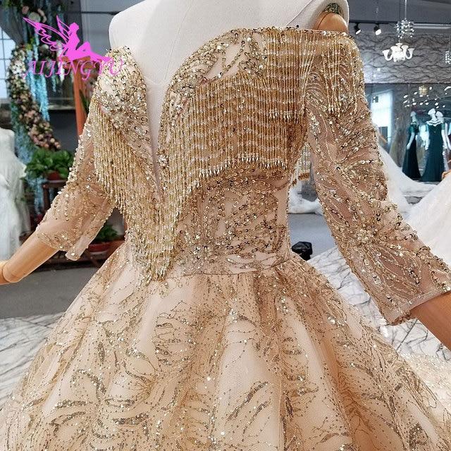 AIJINGYU נפלא יוקרה שמלת שמלות זול תלבושות בציר אוסף חתונה שמלות בחתונות