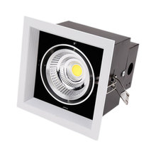 LukLoy 1 головка COB решетка света Mall регулируемое освещение направление светильник офис отель светодиодный светильник Встраиваемый прожектор