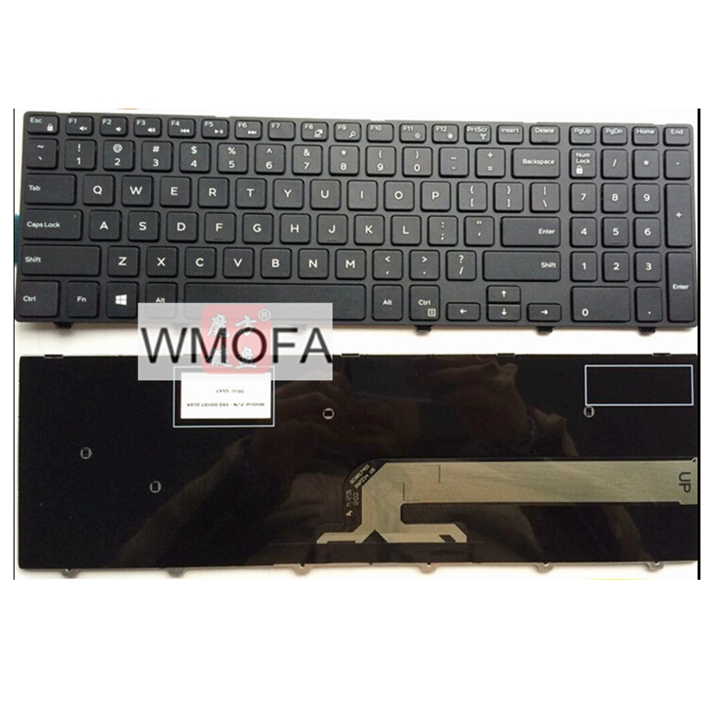 S-u-p-e-r Laptop parts Store US Black New English Replace laptop keyboard For DELL For INSPIRON 15R-3542 15MR-1528 N5547 N5545 5545