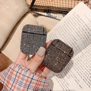 Image 5 - Glitter Sequins Bag Case For Apple Airpods Bluetooth Wireless Earphone Bling Rhinestone Case For AirPods Cover Charging Box Case
