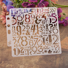 special Number Letters Sticker Painting Stencils for Diy Scrapbooking Stamps Home Decor Paper Card Template Decoration Album merry christmas trees sticker painting stencils for diy scrapbooking stamps home decor paper card template decoration album