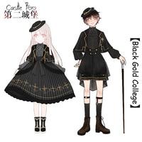 Black Gothic Lolita Dress SK Boy Lolita Original Design Harajuku Cosplay Formal Dress Set SK Half Skirt Cloak Shirt Shorts
