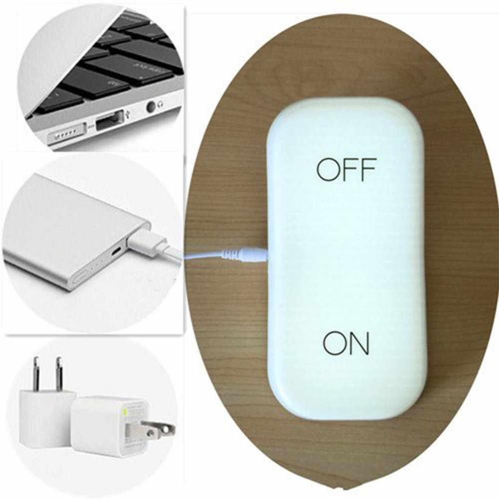 Тяжести Сенсор светодиодные лампы ночь 5 В USB Перезаряжаемые на Off Теплый цвет: желтый, белый свет Портативный для прикроватной тумбочке ночь лампа