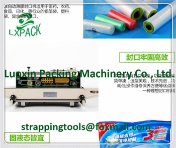 LX-PACK brand Lowest Factory Prices Tabletop band sealer Tabletop vertical rotary sealer Nozzle type vacuum rotary sealer