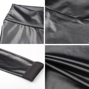 Image 5 - S 5XL Plusขนาดหนังกางเกงผู้หญิงสูงเอวPantanons Mujer FemmeดินสอกางเกงPUหนังLeggingsยืดกางเกงผู้หญิง