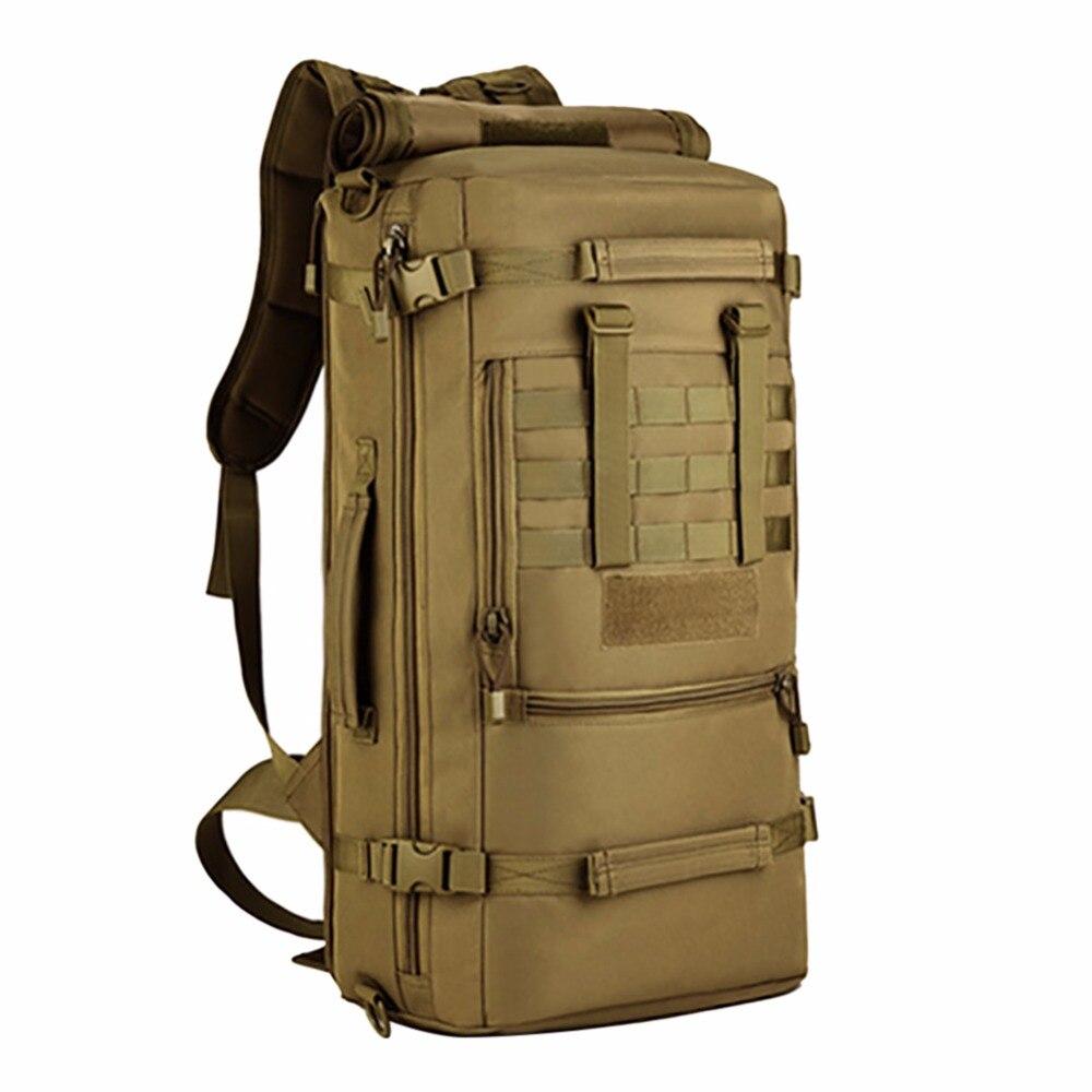 Sac à dos pour ordinateur portable à l'extérieur sacs à bandoulière grande capacité 50L hommes sacs à dos de voyage tactiques sacs à dos Oxford imperméables