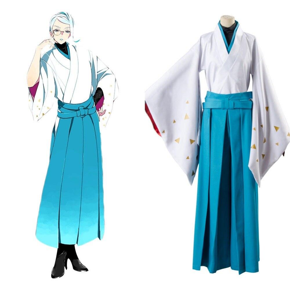 Cosplay Touken Ranbu Online Tomoegata Naginata Kimono Cosplay Samurai Kimono Costumes Full Sets Halloween Carnival Costume