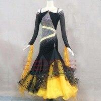 Long sleeve Women Modern Waltz Tango Smooth Ballroom Dance Dress Standard Ballroom Dress Long sleeve ballroom dance clothing