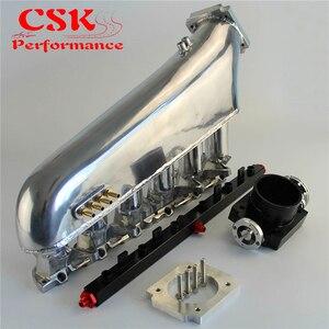 Впускной коллектор с дроссельной заслонки Топливная рейка комплект подходит для BMW E30 M20 320i / 325i 87-91