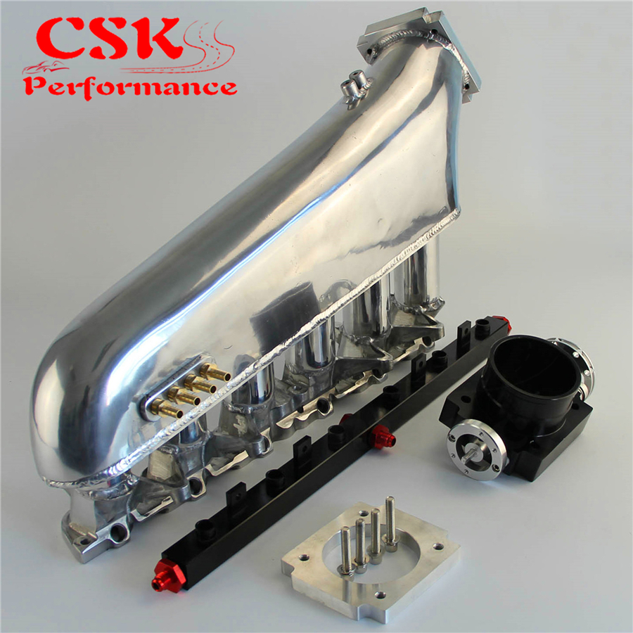 Intake Manifold w/Throttle body Fuel Rail Kit Fits For <font><b>BMW</b></font> <font><b>E30</b></font> M20 320i / 325i 87-91 image