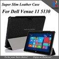 "New Top qualiy Super slim silk pattern leather stand cover For Dell Venue 11 Pro,PU leather case for dell venue 5310 10.8"""