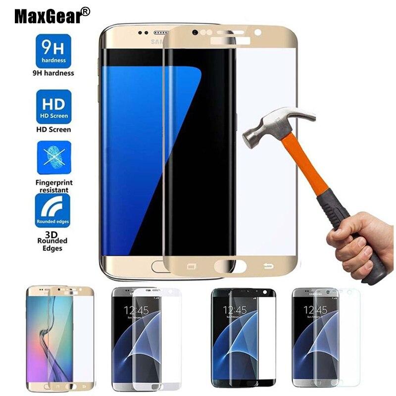 Цена за Для Samsung Galaxy S7 край шелкография 3D полное покрытие стекло фильм для галактики S7 закаленное стекло края до края