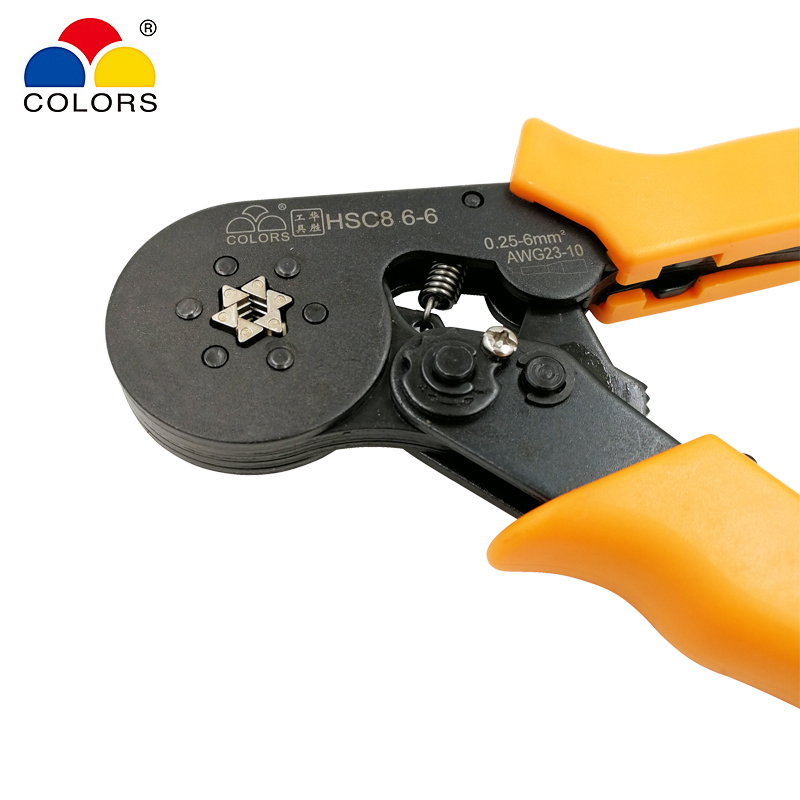 COLORS HSC8 6-6 0.25-6 mm2 23-10 AWG crimping pliers with 1020pcs ...