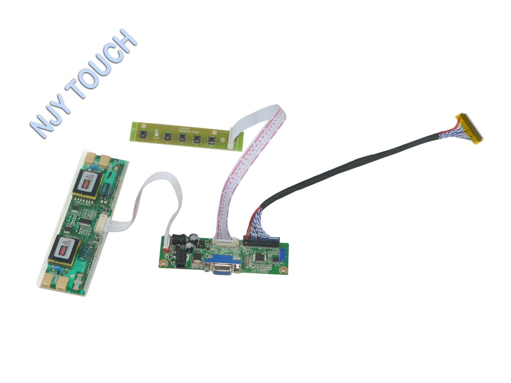 VGA LCD LVDS Controller Board Kit For 17 inch 1680x1050 CLAA201WA04 4CCFL Monitor Kit Easy to Install Play and Plug free shipping v m70a vga lcd lvds controller board kit for 17 inch b170pw06 1440x900 lcd screen