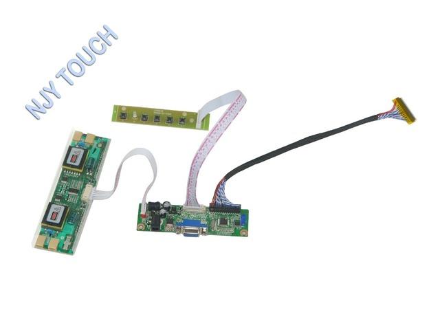 VGA LVDS LCD Kit Placa Controladora Para 17 polegada 1680x1050 CLAA201WA04A 4 CCFL Monitor Kit fácil de Instalar jogar e Plug