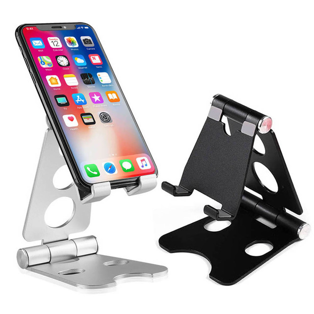 Luxury Multi-angle Adjustable Phone Stand Desk Holder Aluminum Metal Foldable Mobile Tablet Desk Phone Holder for iPhone