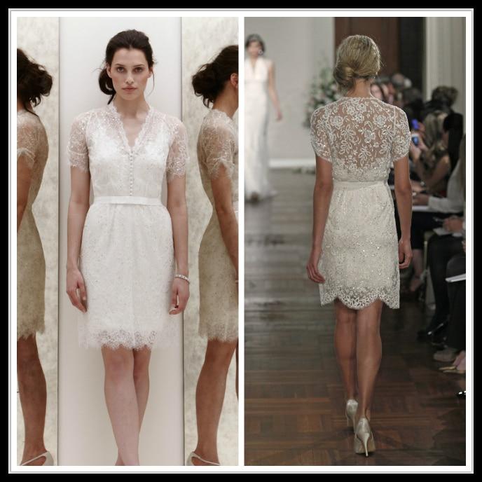 2015 Jenny Packham White Ivory Short Sleeve Wedding Dress