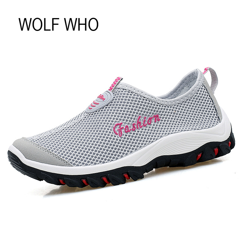 Wolf Who Breathable Women Summer Shoes Female Beach Water Footwear Tenis Feminino Casual Chaussure Femme Sapatos Femininos x409 туфли на высоком каблуке tenis feminino femininos sapatos sapato feminino platform shoes