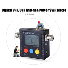 SW-102 Digital VHF/UHF Antenna Power Meter LCD SWR Standing Wave Ratio Watt Meter 125-525Mhz for 2 Way Radios US Energy Monitor