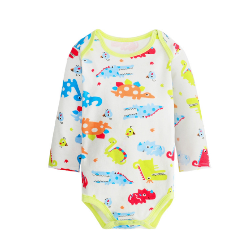 3 Pieces / Lot Danrol Colorful Baby Bodysuits 0-18M Longsleeves 100% Cotton Boy Girl Jumpsuit Infant Clothings Baby Bodysuits