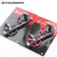 Fouriers Full Ceramic Road Bike Rear Derailleur Pulley Wheel Big Cage 15T Drivetrain For Dura Ace 9000 9070 Ultegra 6800 6870