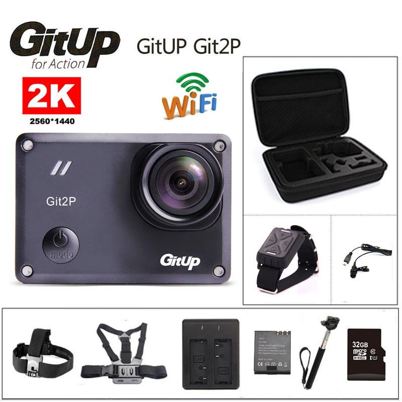 Prix pour Camera action deportiva d'origine gitup git2 p novatek 96660 à distance Ultra HD 2 K WiFi 1080 P 60fps sport aller étanche pro caméra