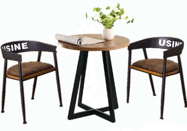 Comida rápida occidental sillas cafe negociación mesas y sillas de ...