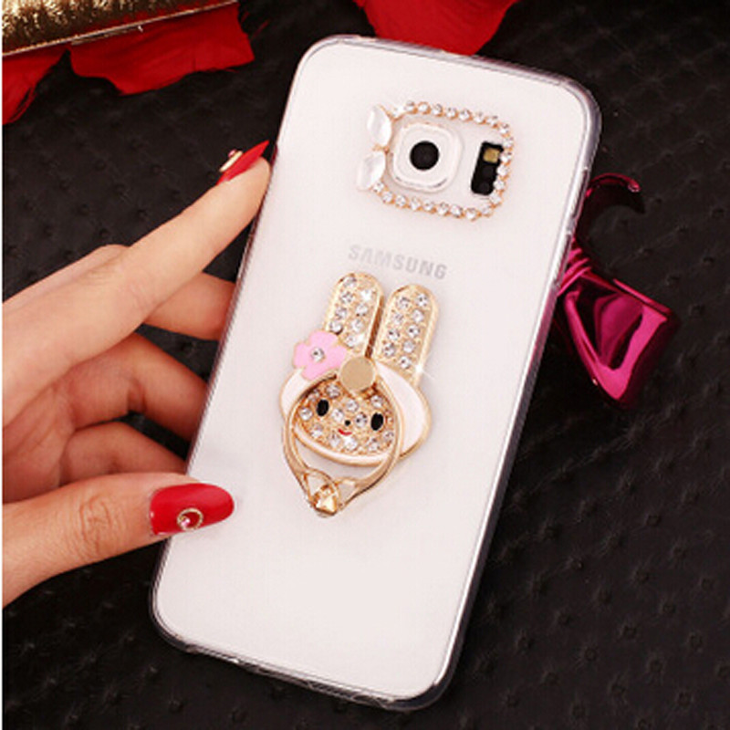 New 3D peacock sun bling Crystal diamond Stand Cell <font><b>Phone</b></font> Shell back Skin cover hard case For Samsung Galaxy <font><b>S7</b></font> Edge SM-G935