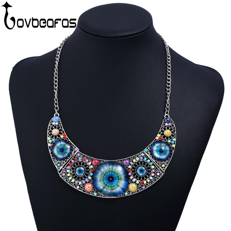 LOVBEAFAS Fashion Bohemian Maxi Collar Statement Necklace Mus