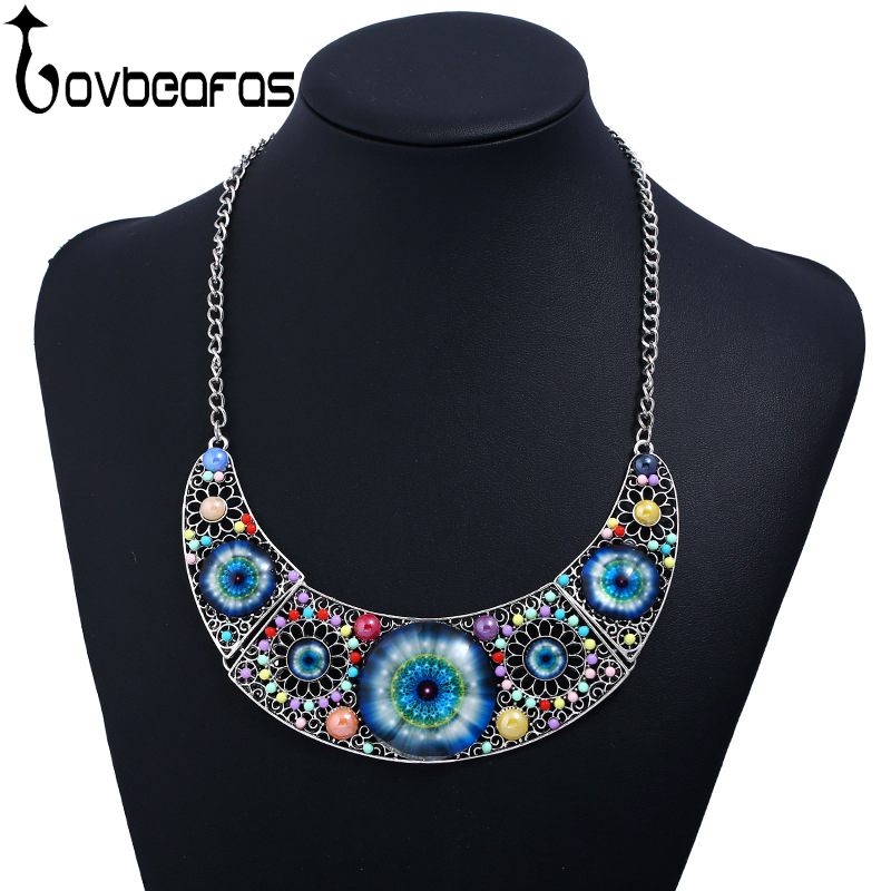 LOVBEAFAS Fashion Bohemian Maxi Collar Statement Nes